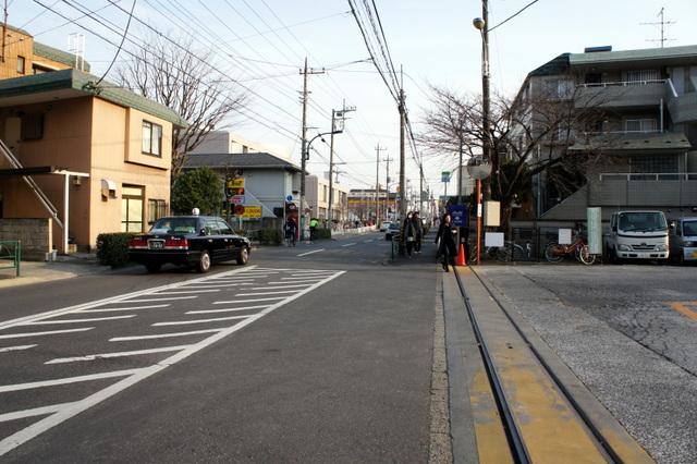 弦巻営業所から桜新町方向をみる