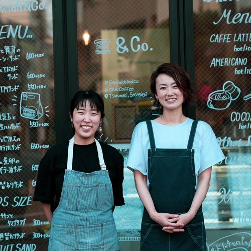 Sandwich&Co.鈴木さん(左)とOkeiCoffee能勢さん(右)